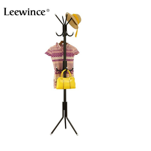 Leewince Metal Coatrack hanger bedroom simple hanging clothes rack creative iron storage rack European style