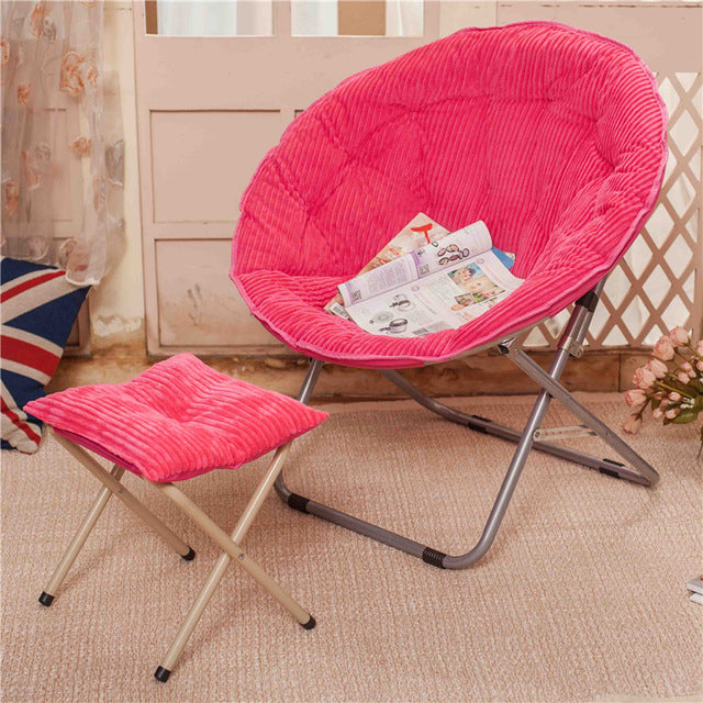 $202.83- Balcony Home Furniture Nap Lazy Dormitory Outdoor Indoor Leisure Sofa Round Modern Portable Beach Stool Folding Chair Cadeira