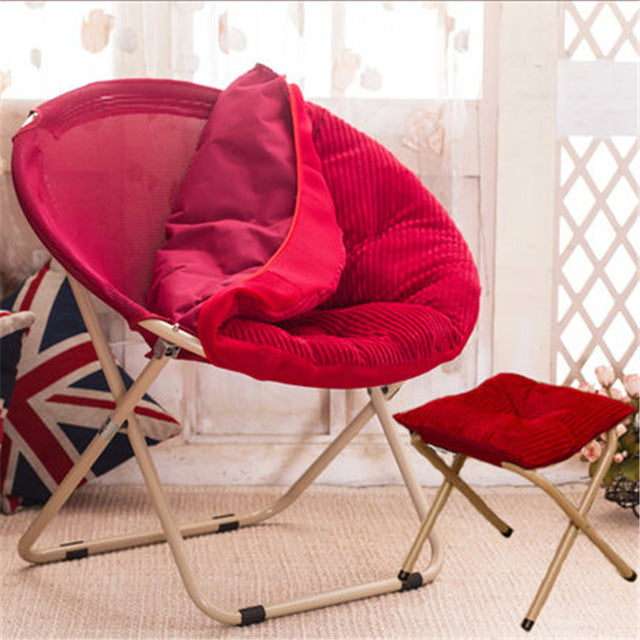 $210.85- Balcony Home Furniture Nap Lazy Dormitory Outdoor Indoor Leisure Sofa Round Modern Portable Beach Stool Folding Chair Cadeira