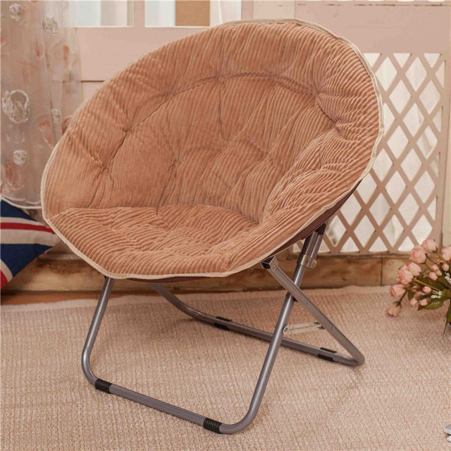 $192.95- Balcony Home Furniture Nap Lazy Dormitory Outdoor Indoor Leisure Sofa Round Modern Portable Beach Stool Folding Chair Cadeira