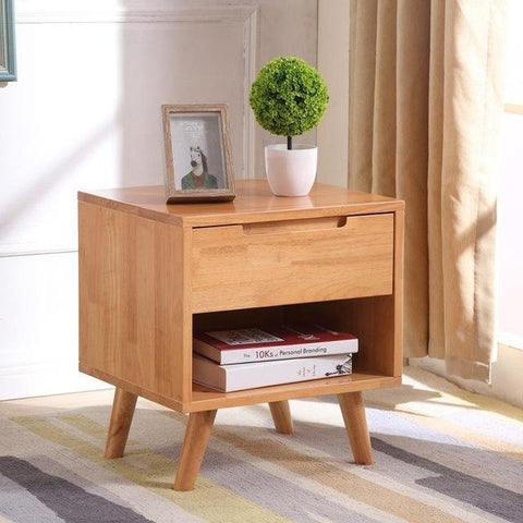 $505.10- Nordic Full Bedside Table Modern Minimalist Bedroom Original Small Corner Creative Lockers Oak Side Cabinet