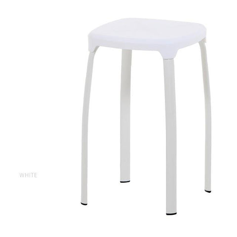 $384.25- North American Fashion Bar Stool Living Room Dining Plastic Stool White Black Orange Color
