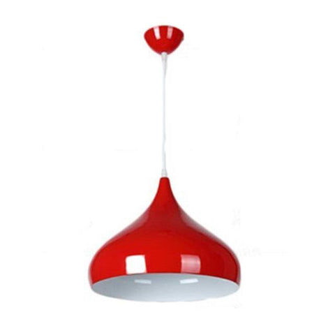 $31.93- Colorful 32Cm Pendant Lampshade Nordic Minimalist Modern Chandelier Simple Ceiling Lamp Home Household E27 Drop