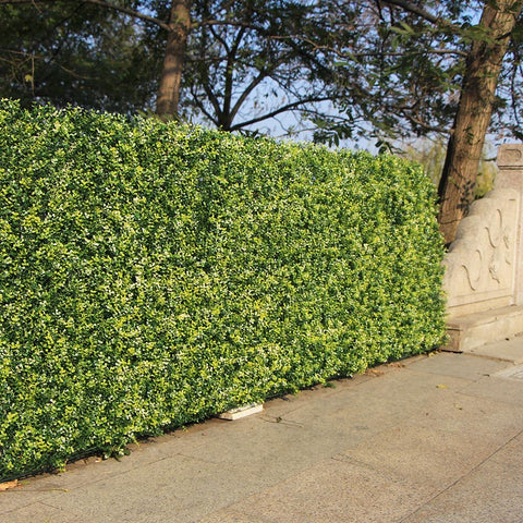 $12.35- Uland Indoor Artificial Plastic Plants For Decoration 10X10 Outdoor Ivy Hedges Panels Grass Wall Uv Proof Nature Balcony Yard
