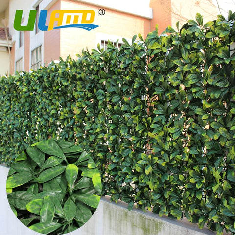 $303.50- Uland Decorative Artificial Boxwood Hedge Panels 3 Sqm Osmanthus Leaf Plastic Privacy Ivy Fence Outdoor Decoration Diy Garden