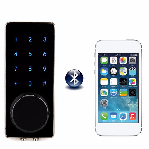 $166.77- Office Smart Bluetooth Touch Screen Lock Digital Password Keypad Door Lock W/ Smartphone App For Hotel Apartment F1401A