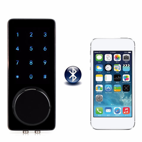 $186.66- Office Smart Touch Screen Bluetooth Lock Digital Password Keypad Door Lock W/ Smartphone App For Hotel Apartment F1400A