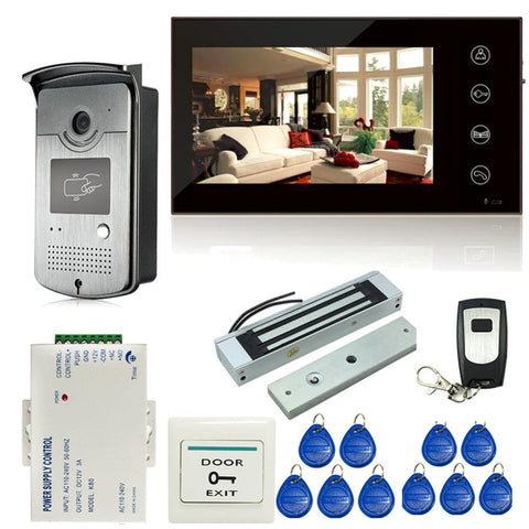$226.61- 7 Inch Touch Screen Lcd Color Video Door Phone Intercom Entry System 1 Monitor1 Rfid Access Hd Cameraelectric Magnetic Lock