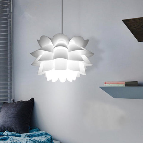 $68.26- Nordic Pendant Lights Pp Lotus Pendant Lamps For Kitchen Living Room Bedroom Home Lighting Ceiling Fixture White Hanging Lamp