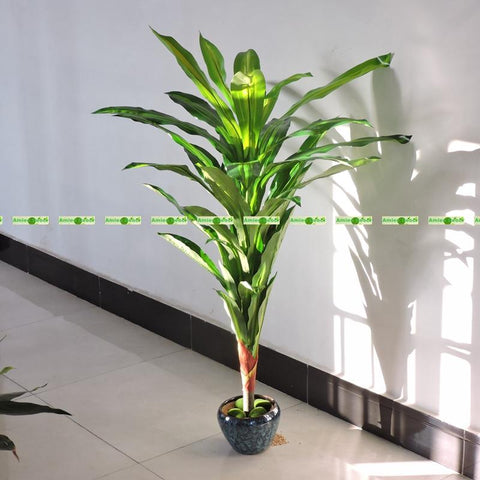 1.25M Large Latex 2Pcs Artificial Palm Brazil Bird Plant Tree No Pot Vase In Wedding Home Outdoor Furniture Decor Green F5371