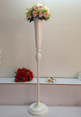 $864.00- White Metal Flower Holder Wedding Table Centerpieces Flower Vase Stand Wedding Road Lead Flower Rack Home Decoration 120Cm Tall