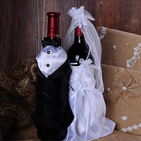 $505.50- New Style Wedding Decorations Bride Groom Dress Wine Glass Champagne Bottle Decoration Wedding Patry Cover Supplies Za3045