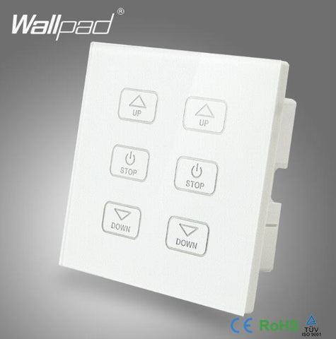 110V250V Led Remote Dimmer Switch Wallpad Gold Glass Panel 6 Buttons Wireless Remote Control 2 Lamps Dimmer Radio Light Switch