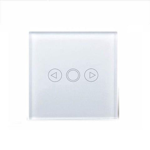 $23.71- Eu Standard Touch Dimmer Switch Dimmer 1 Gang White Glassdimmer Switch Glass Touch Panel Dimmer For Floor Lamp Light Switch
