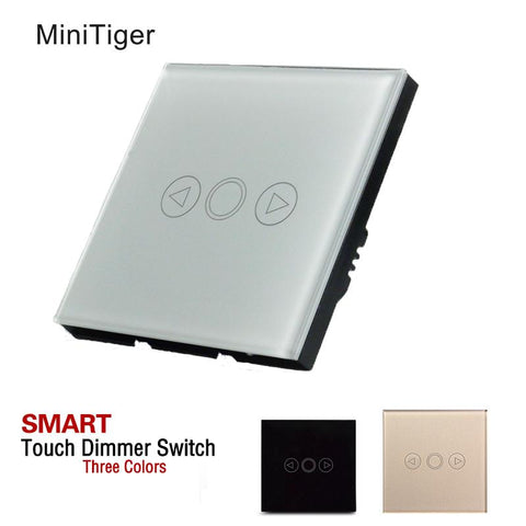 $23.71- Minitiger 1 Gang Eu/Uk Standard Touch Switch Led Dimmer Switch For Dimmable Spot Lightstouch Dimmer Switch