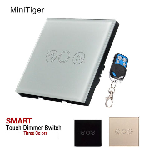 $30.38- Minitiger 1 Gang Eu Standard Wall Light Touch Dimmer Switch Smart Switchled Dimmer Switch For Dimmable Spot Lightst601At601B