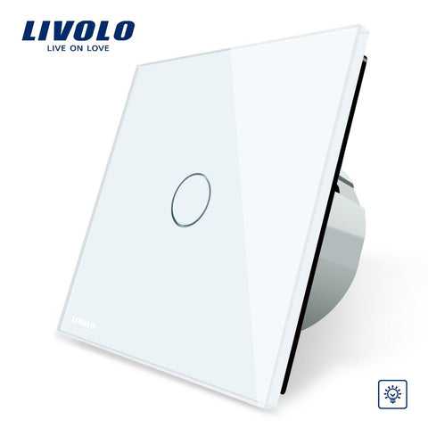 $68.56- Livolo Eu Standard Dimmer Switch Wall Switch Crystal Glass Panel 1 Gang 1 Way Dimmervlc701D1/2/5