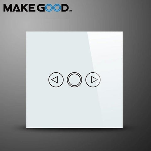 $38.65- Makegood Eu Standard 1 Gang 1 Way Smart Dimmer Switch Crystal Glass Panel Touch Switchac 110250V/1000W For Light