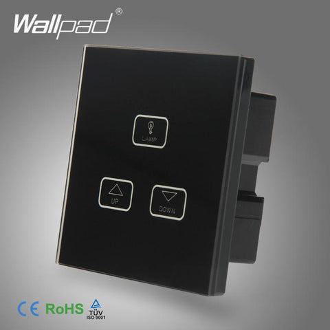 Best Quality 3 Gang Dimmer Switch Wallpad Black Glass Switch Led 3 Gang Touch Panel Dimmer Dimming Control Wall Switch 1 Way