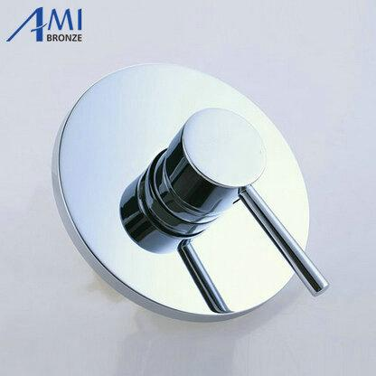 Round Shower Mixing Valve Concealed Bathroom Bath Chrome Brass Shower Panel Faucet Tap