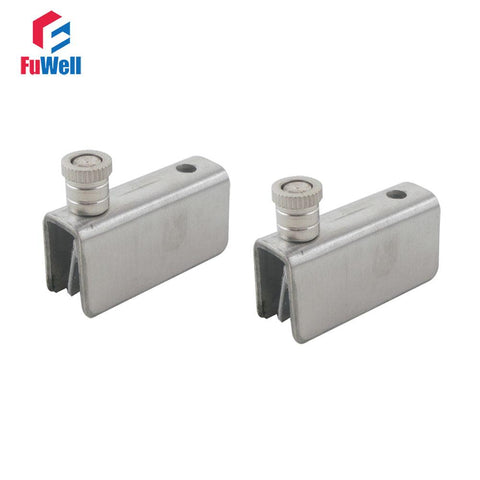 $26.24- 4Pcs 70Mm Length Stainless Steel 810Mm/.393In Bathroom Shower Glass Door Clamp Clip Door Hinge