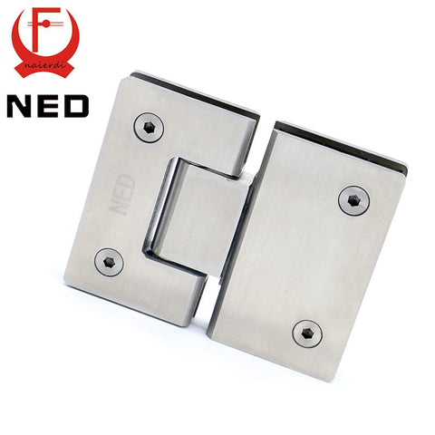 $43.18- Ned4904 180 Degree Hinge Open 304 Stainless Steel Wall Mount Glass Shower Door Hinges For Home Bathroom Furniture Hardware