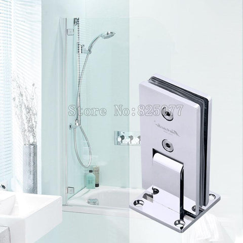 $310.99- Dhl 3Pcs Shower Room Hinge Rectangle 90 Degree Double Stainless Steel Bathroom Glass Clamp