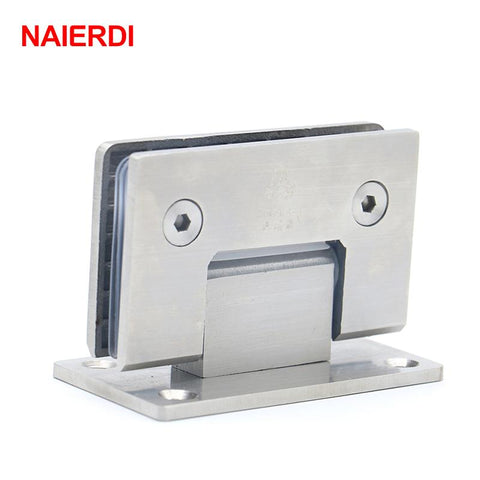 $30.58- Naierdi4913 90 Degree Open 304 Stainless Steel Wall Mount Glass Shower Door Hinge For Home Bathroom Furniture Hardware
