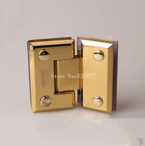 Pvd Titanium 135 Degrees Open 304 Stainless Steel Wall Mount Glass Shower Door Hinge Hypotenuse Hinge Hm161