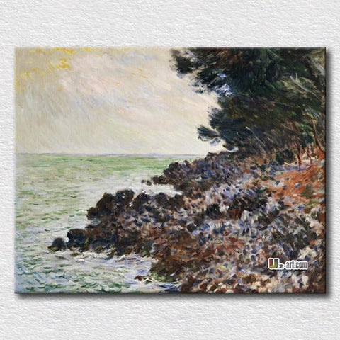 $19.44- Coastal Road At Cap Martin Near Menton World Famous Decoration Wall Picture For Friends Gift Canvas Prints