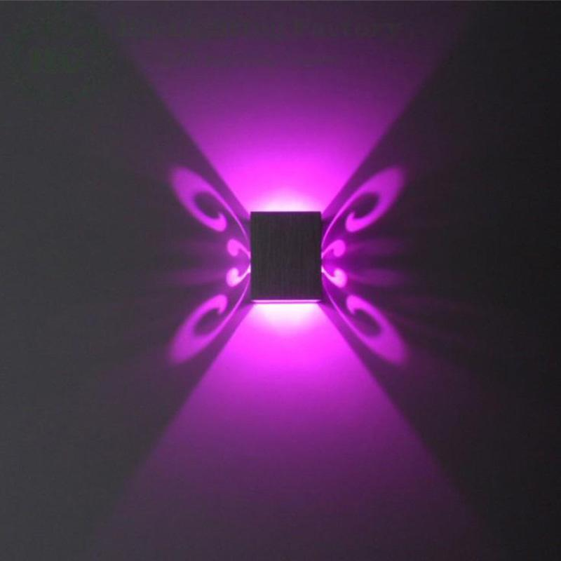 Buy W Wall Lamp Butterfly Lighting New Modern Led Sconce W - Butterfly lights for bedroom