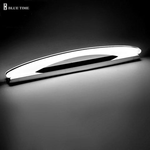 $39.17- 80 100 120cm Acrylic LED Wall Light Bathroom Mirror Front Light Stainless Steel Modern Sconce Wall Lamp LED Lustres For Bathroom