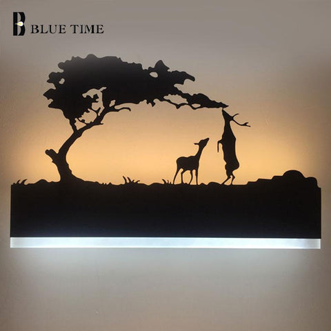 $63.88- Led Wall Light Lamp Modern For Bathroom Living Beside Study Room Bedroom Fixtures Acrylic Sconce Wall Lamp Led Lustres Black