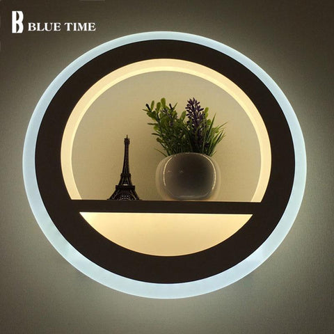 12w Acrylic Decoration Modern LED Wall Lamp For Living room Bedroom Corridor Bedside Fixtures LED Sconce Wall Light Indoor Lamp