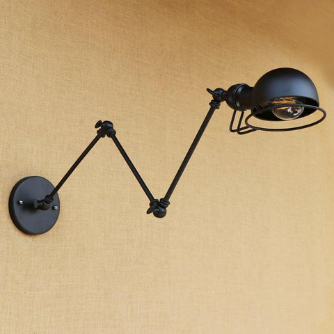 $88.54- Black Loft Style Industrial Retro Vintage Wall Lamp Edison Wandlampen Adjustable Swing Long Arm Wall Light Fixtures Sconces