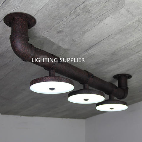 Contracted Technology Corridor Industrial Style Fixtures Creative Led Three Disc Water Pipe Ceiling Lamps