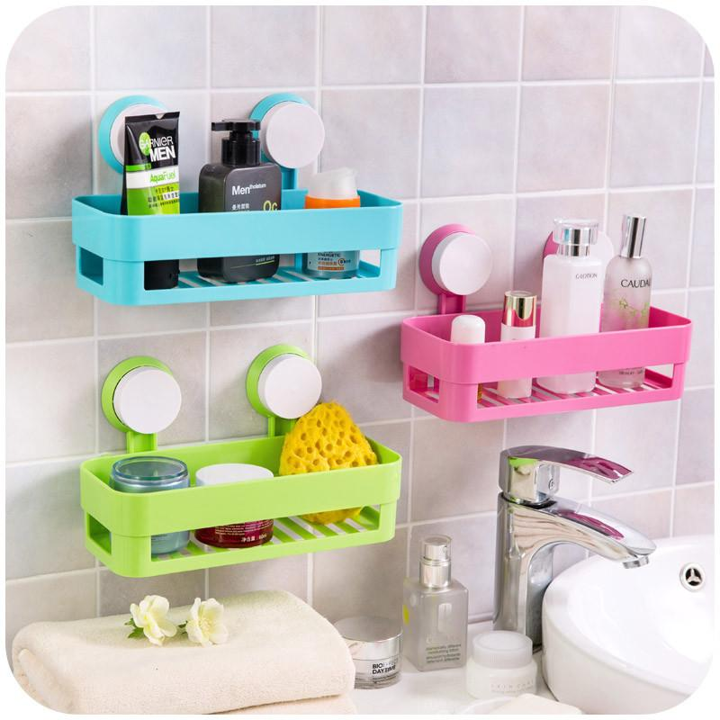Bathroom Accessories With Suction Cups simple life suction cup bathroom shelf basket rack wall hanging