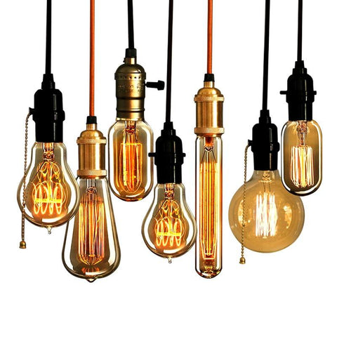 $3.76- Retro Vintage 40W Edison Light Bulb Chandelier E27 220V Lamp Industrial Incandescent Bulbs Filament Edison Light Bulb Lamps