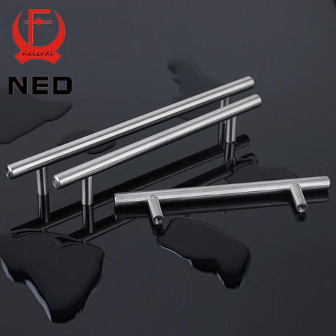 $1.48- Ned 4 ~ 24'' Stainless Steel Handles Diameter 10Mm Kitchen Door Cabinet T Bar Straight Handle Pull Knobs Furniture Hardware