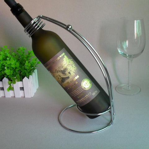$16.93- Special Offer Red Wine Rack Bottle Holder Stand Iron W/ Silver Coating Stainless