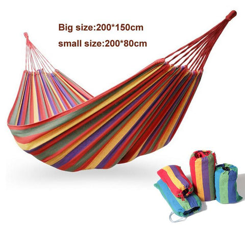 $35.82- Hammock Hamac Outdoor Double Hammocks Camping Hunting Leisure Products Super Big Size Hamaca