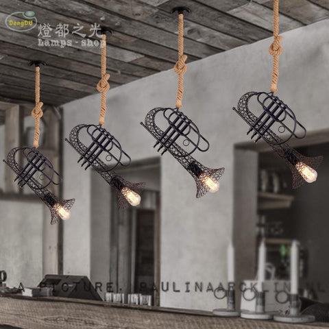 $229.50- 50Cm Vintage Industrial Hemp Clothing Store Creative American Retro Pendant Light Bar Cafe Decoration Pendant Lamp