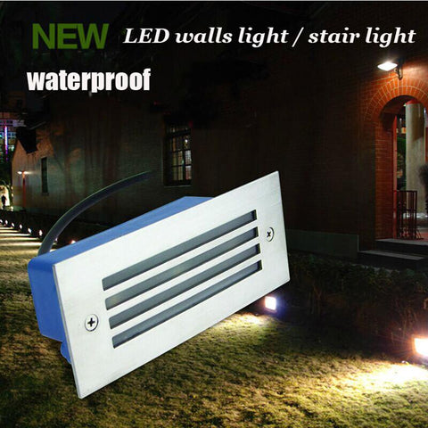 $18.39- Led Wall Light Outdoor Waterproof Ip65 3W Steel Mesh Led Light Pathway Path Step Stair Wall Garden Yard Lampfree