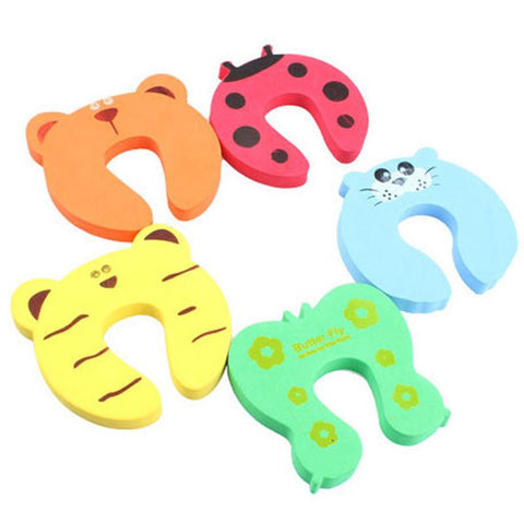 $1.84- 4Pcs Colorful Baby Helper Door Stop Finger Pinch Guard Lock Toy Safety Guard