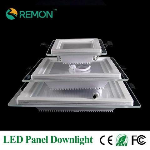 $13.28- Energy Saving Led Panel Downlight Dimmable Glass Led Recessed Ceiling Lamp 6W 12W 18W Square Sopt Down Lights Kitchen Decro Bulb