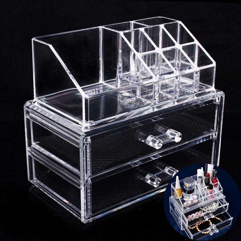 $29.21- Cosmetic Makeup Storage Drawers Case Acrylic Makeup Organizer Rangement Maquillage