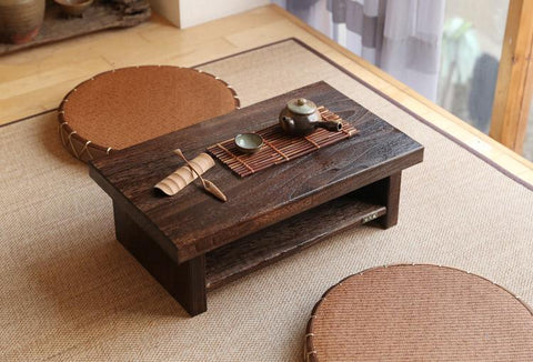 $232.56- Oriental Antique Furniture Design Japanese Floor Tea Table Small Size 60*35Cm Living Room Wooden Coffee Tatami Low Table Wood