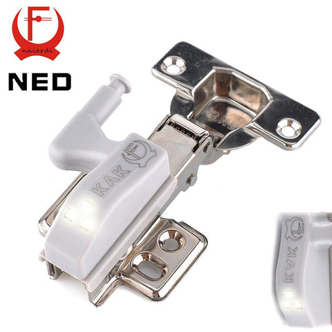 $1.29- Brand Ned Universal Kitchen Bedroom Living Room Cabinet Cupboard Closet Wardrobe 0.25W Inner Hinge Led Sensor Light System