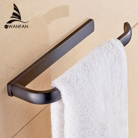 "Arrival Bathroom Square Single Towel Bar 22"" Stainless Steel Black Spray Painting Towel Rack Set Holder Shelf Wall Mounted"
