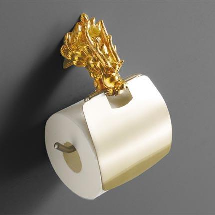$87.89- Luxury Wall Mount Gold Dragon Design Paper Box Roll Holder Toilet Gold Paper Holder Tissue Box Bathroom Accessories Mb0959A